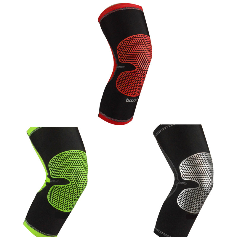 New Basketball Knee pad Running Sport Support Protect Gym Brace Breathable Nylon Silicone Protector