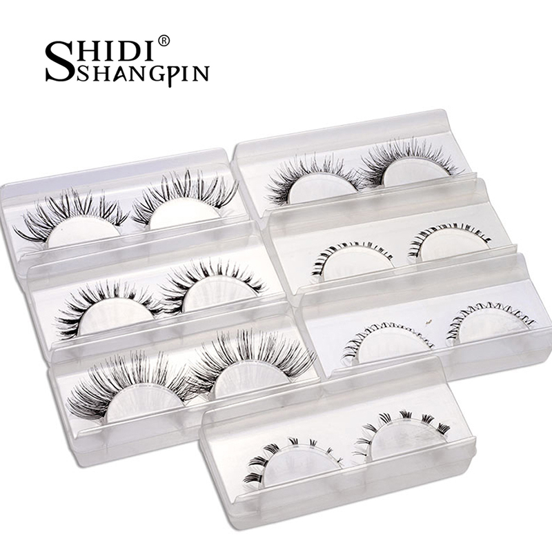 7 Pairs Hand Made Lower Lashes Cross Mix Top Eye Lashes False For Beauty Tips Eye Transparent 6mm Individual Extension Too
