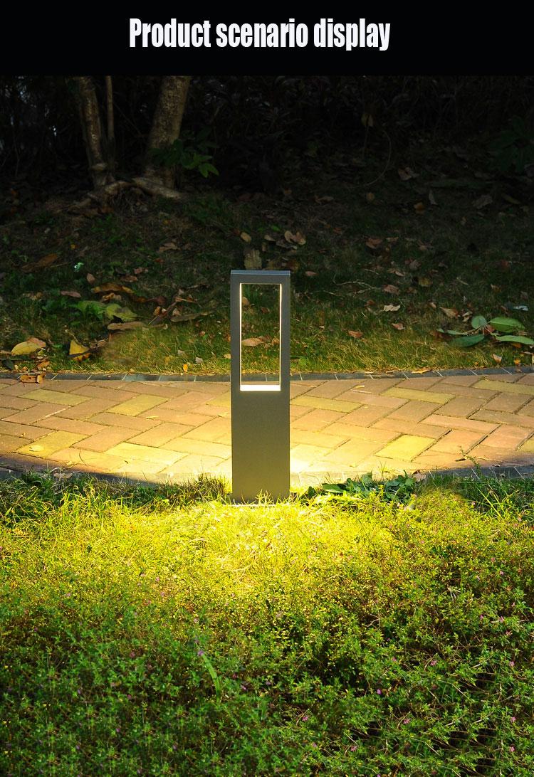 (ip65) lâmpada do gramado simples e moderno