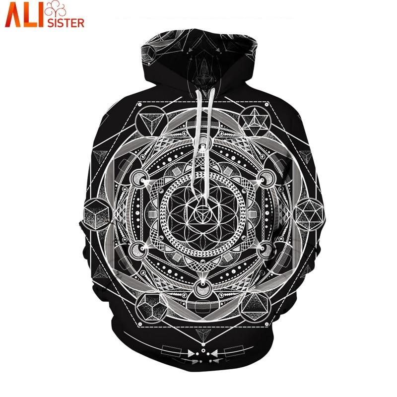 Alisister Esoteric Hoodies Sweatshirt 3d harajuku pullover Men Hooded Sweatshirts Streetwear Unisex Casual Tracksuit Dropship