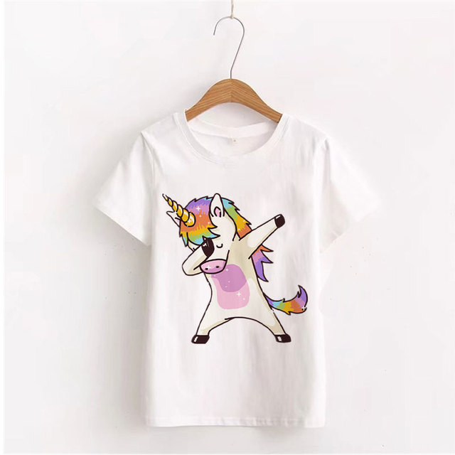 Summer Unicorn Print Cotton Top