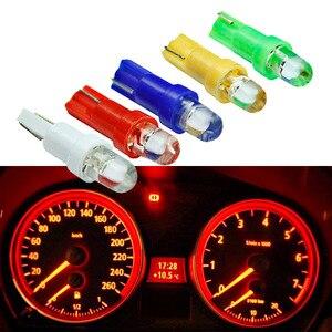 Image 1 - 10 個 T5 led 車のインテリアのダッシュボードゲージ楽器車の自動車サイドウェッジライトランプ電球 dc 12 v 白赤青黄緑