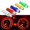 Instrumentos de calibre para tablero Interior de coche T5, 10 Uds., lámpara de luz de cuña lateral para coche, Bombilla DC 12V, blanco, rojo, azul, amarillo, verde