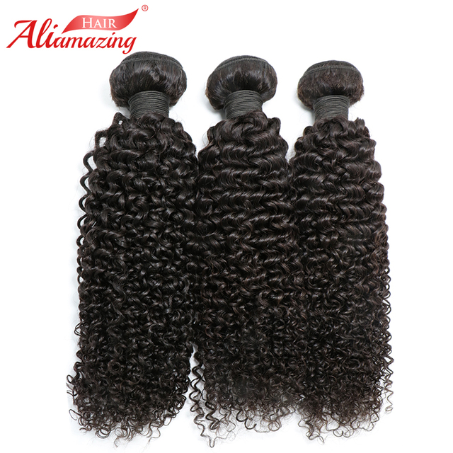 Ali Amazing Hair Curly Weave Human Hair Bundles 3pcslot Double Weft