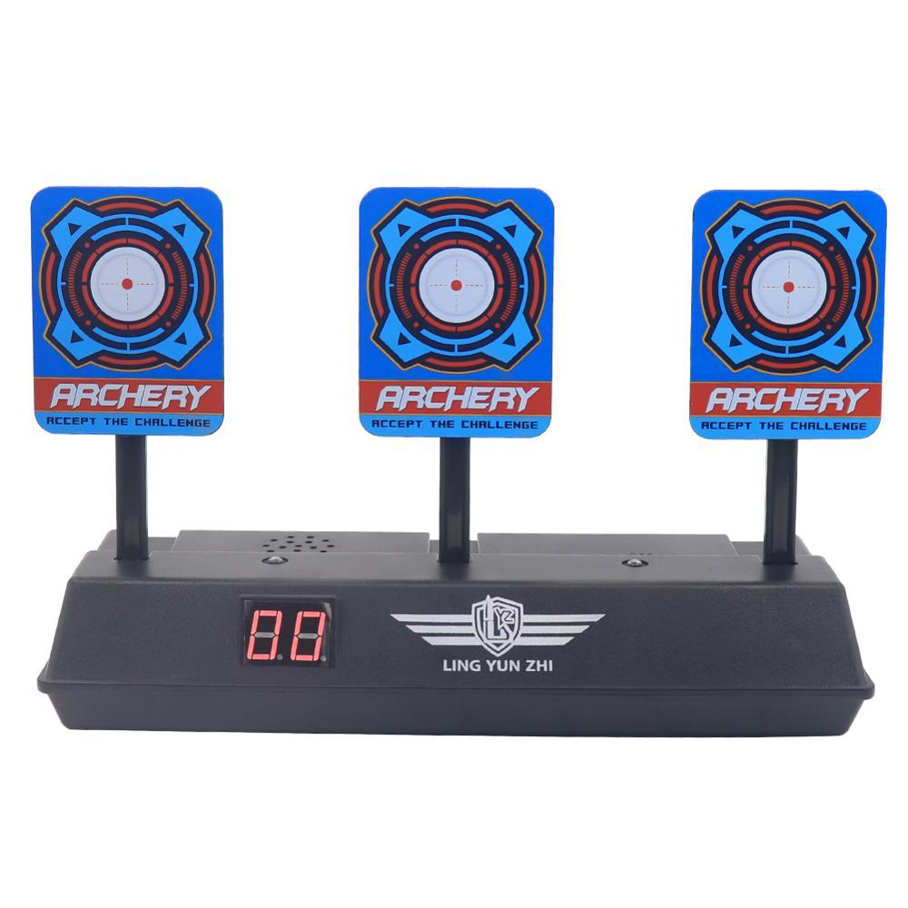Scoring Auto Reset Demountable Electric Shooting Target for Nerf Blaster Gel Beads Blaster Paintball Accessories-in Paintball Accessories from Sports & Entertainment