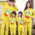 Family Spongebob Clothing Sets Autumn Mother Daughter Fashion Matching 2pcs Pajama Sets Father Son Garfield Full Sleepwear