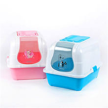 Plastic Large Enclosed Cat Litter Box Health Supplies Animal Large Open Toilet For Cat Letter Box House WC Tray Restroom QQM2402