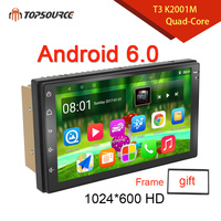 TOPSOURCE Car DVD Player Universal 7 WIFI RDS AV OUT Android 6.0 GPS 2din Car Radio GPS NAVIGATION For VW Nissan TOYOTA