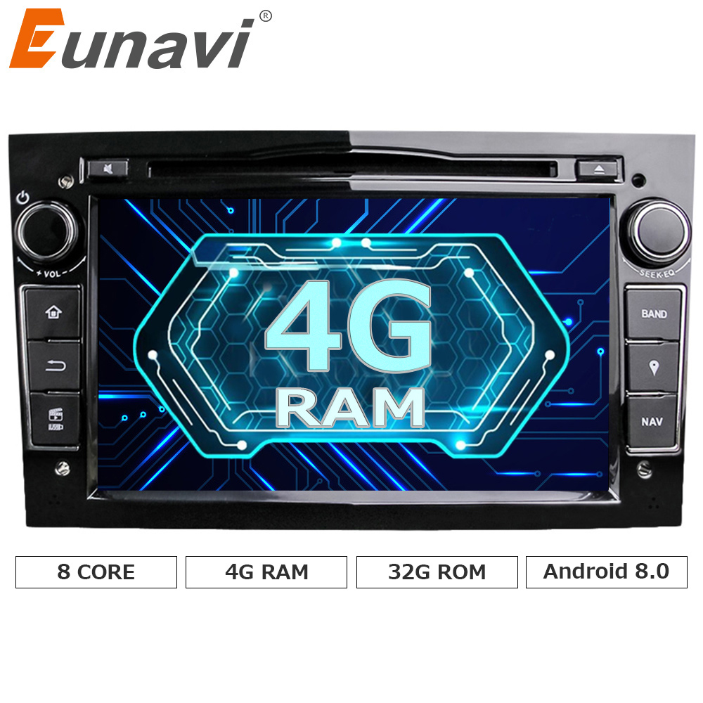 Eunavi HD 1024 600 Octa Core 2din Android 8 0 font b Car b font DVD