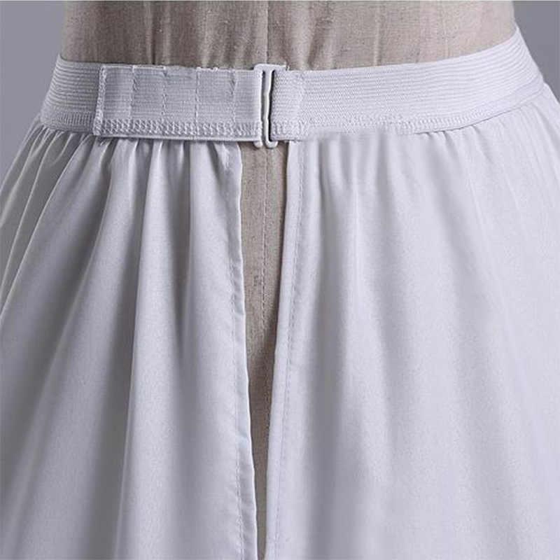 Nuovo Arrivo Vendita Calda 2 Strati Ruffles Sottogonna Accessori Da Sposa Sottoveste di A-Line Bianco Abito Da Sposa Petticoat Regolare La Vita