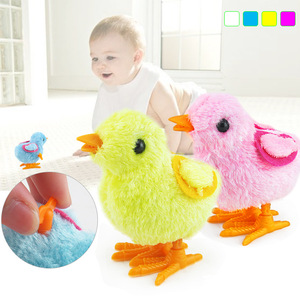 Новый мультяшный плюшевый Цыпленок, развивающие милые игрушечные Цыплята с заводным механизмом, прыжки, ходьба, детские игрушки, подарки дл...