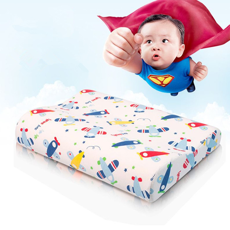 45*25*6/4cm Cartoon Orthopedic Children Teenager Memory Pillow Kids Baby Health Care Pillow For Sleep With Pillowcase