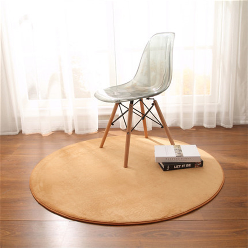Iskandinav modern tarzı yastık Yuvarlak Mercan polar halı yatak odası başucu mat oturma odası kahve sehpası halı odası dekorasyon battaniye|Halı|Ev ve Bahçe - title=
