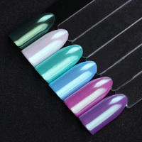 Mint Green Pearl Nail Glitter Mermaid Powder Dust Pigment Cosmetic Eye Shadow Manicure Nail Makeup Decoration