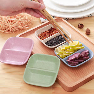 Tableware Seasoning-Dish Dish-Calving Dinner-Plates Sauce Vinegar New 1pcs Wheat-Straw