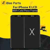 IBee запчасти шт. 2 шт. класс AAA для Tianma iPhone X ЖК дисплей стекло сенсорный экран сборки Замена холодной рамки