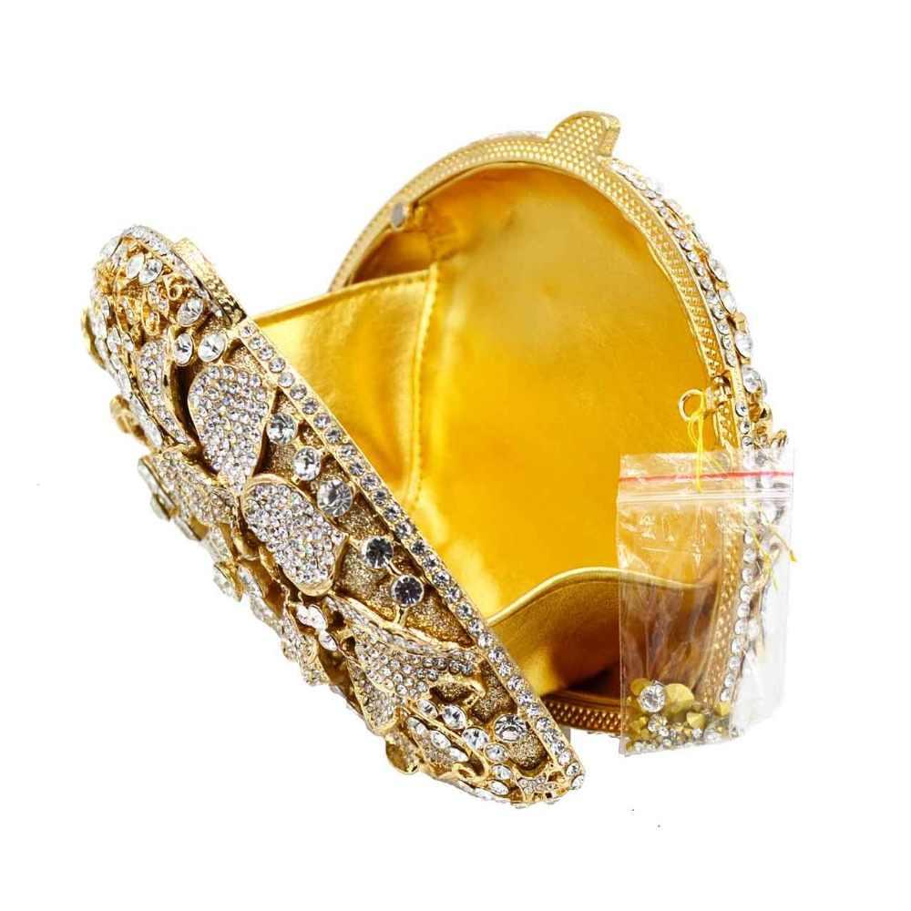 Женские дизайнерские модные вечерние свадебные сумочки, Золотые Серебряные вечерние сумки с цветами и кристаллами, дамские сумочки, браслеты SC647