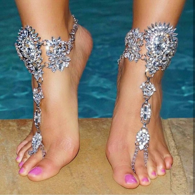 58e974fb91beda Miwens Hot Fashion 2019 Fashion Anklets Bracelets Barefoot Sandals Beach  Foot Jewelry Sexy Pie Summer Female Boho Crystal Anklet