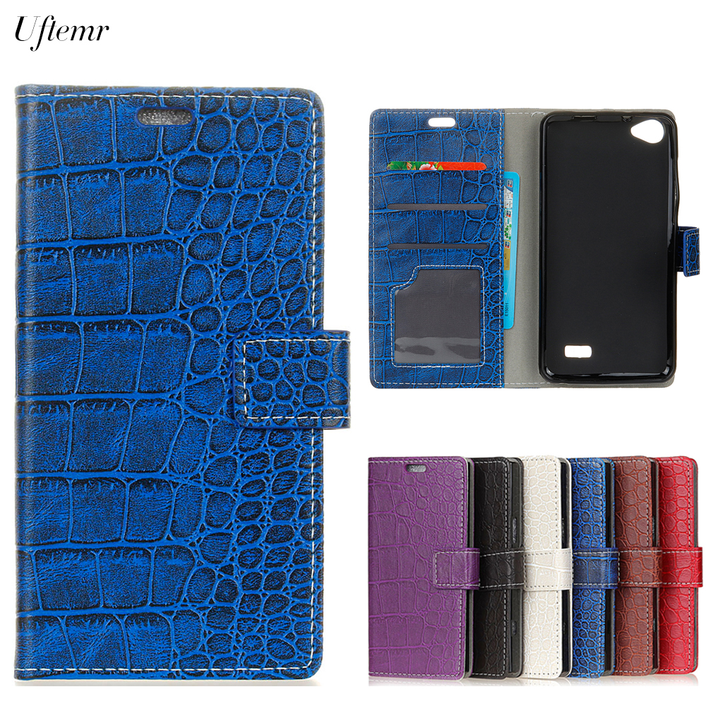 Uftemr Vintage Crocodile PU Leather Cover For Acer Liquid Z6E Protective Silicone Case Wallet Card Slot Phone Acessories
