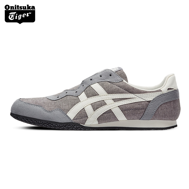 outlet store 9ea1e 061fe Aliexpress.com   Buy Onitsuka Tiger Badminton Shoes SERRANO SLIP ON Men    Women Outdoor Casual Wear Resistant Leisure Not Lace up Loafers D7F0N from  ...