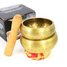 Nepal Handmade Tibetan Singing Bowl Set Decorative-wall-dishes  Resonance Healing Meditation Yoga with Mallet