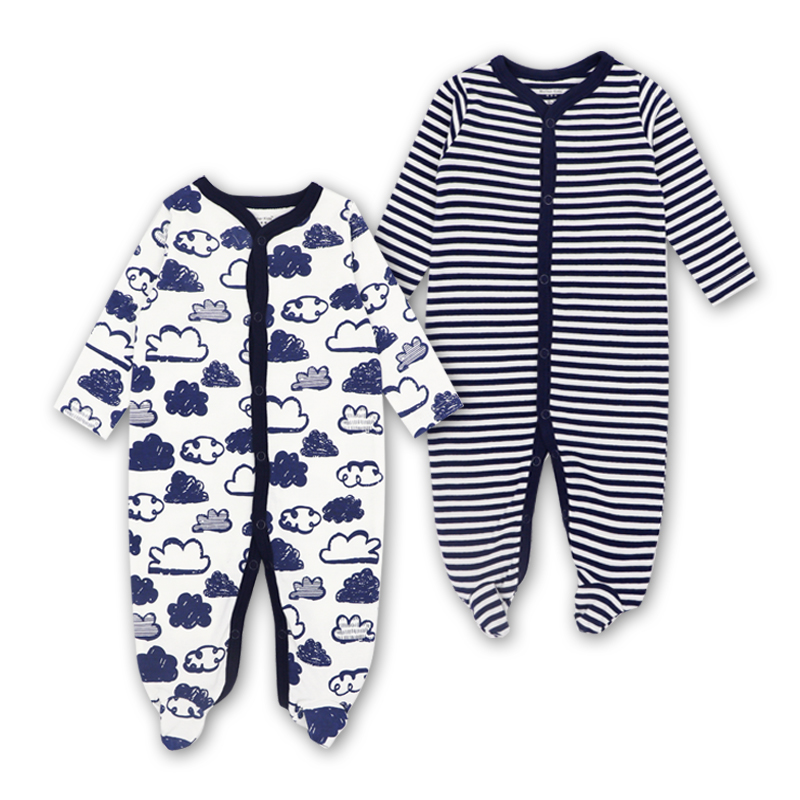 2018 New Baby Clothing Newborn Baby Boy Girl   Romper   Baby Clothes Long Sleeve Infant Product 2 PCS Baby's sets