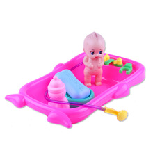 Childrens Simulation bath doll tub plastic baby shower toys over home water hot selling products