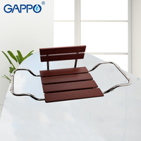 GAPPO Wall Mounted shower Seats shower chair solid wood and stainless steel bathroom bench shower seats ba