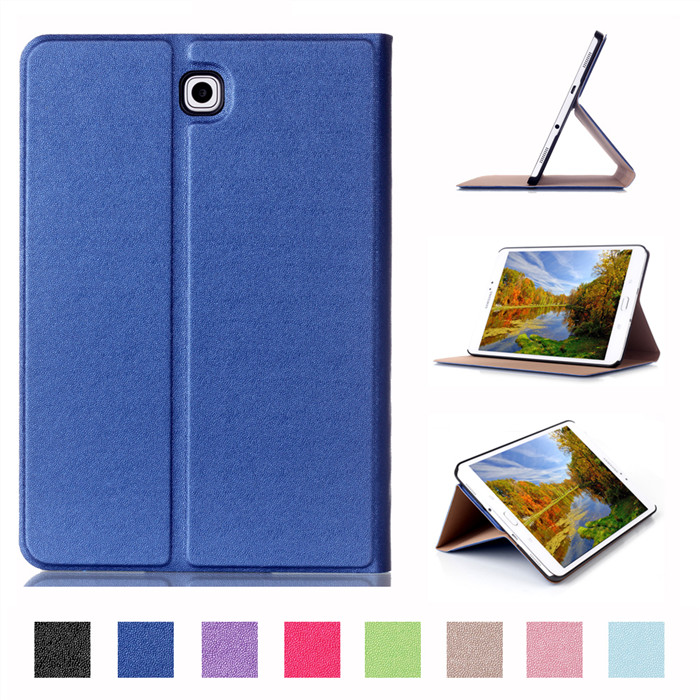 PU Stand Cover Case for Samsung Galaxy Tab S2 8.0 T710 T713 T715 T719 T719C 8 Tablet + 2Pcs Screen Protector