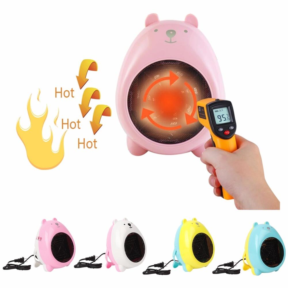 MEXI 400W Mini Electric Heater Portable Space Desktop Home Cartoon Bear Warmer Fan Heater mini portable usb rechargeable hand warmer heater cartoon pig for travel outdoor