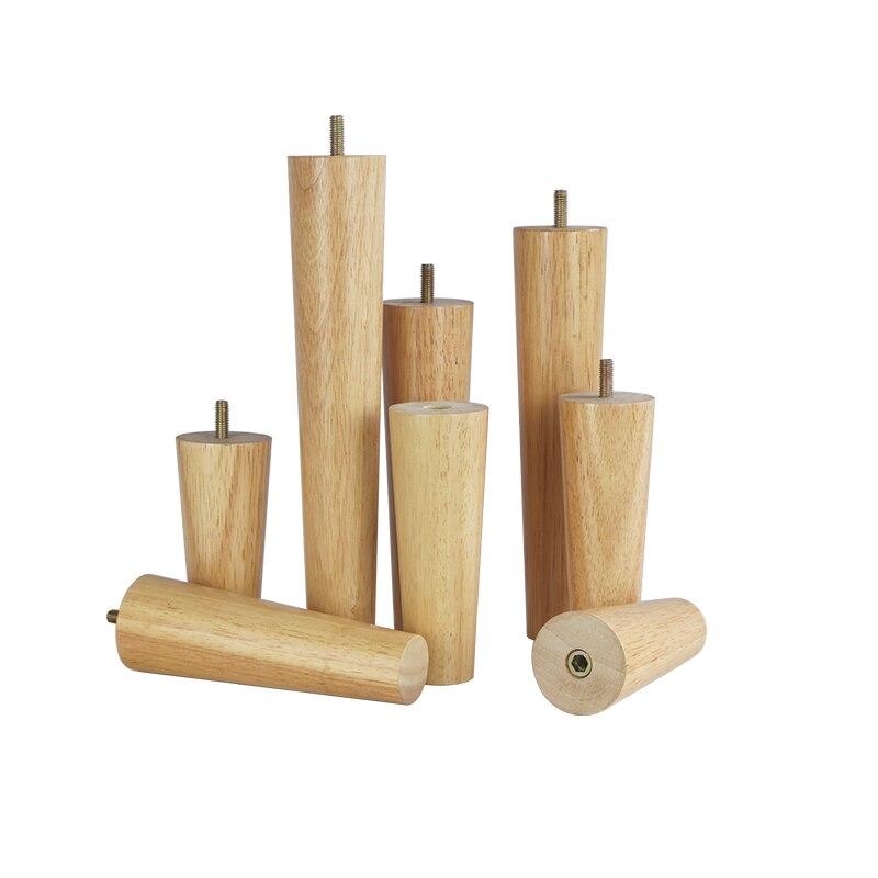 4pcs/lot Solid Wood Furniture Legs Furniture Support Foot Leg TV Cabinet Support Feet Sofa Leg Oak Wooden Furniture Accessories