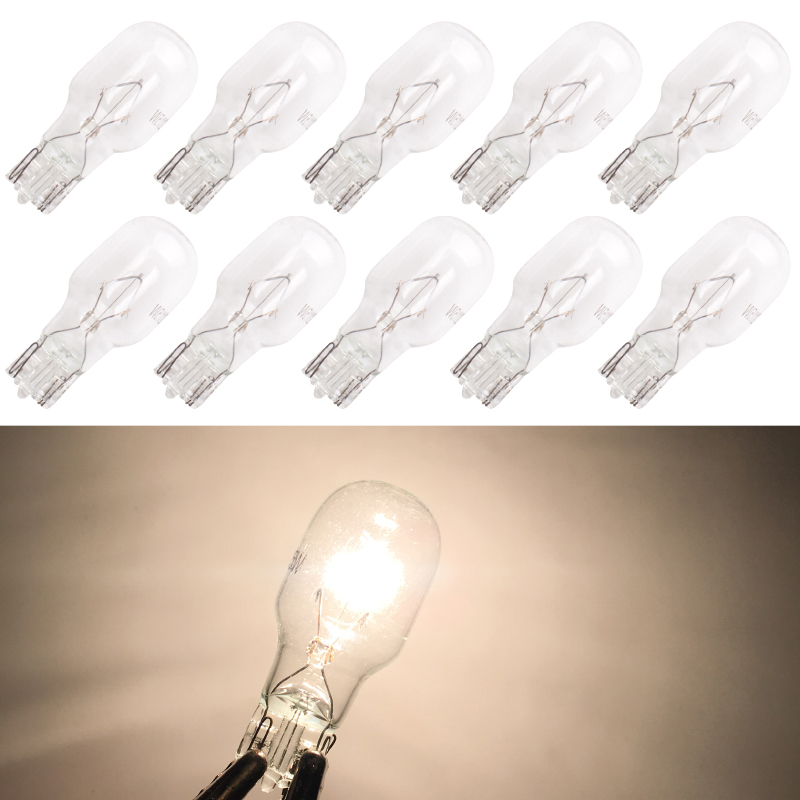 Image 3 - Wholesales 100pcs/lot warm white T15 W16W halogen light 12V 15W  Interior clearance light Dashboard automotive clear glassSignal Lamp   -
