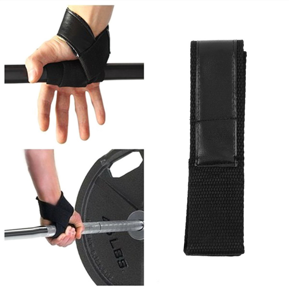 1Pair Weight Lifting Hand Wrist Bar Support Strap Brace Support Gym Straps Weight Lifting Wrap Belt