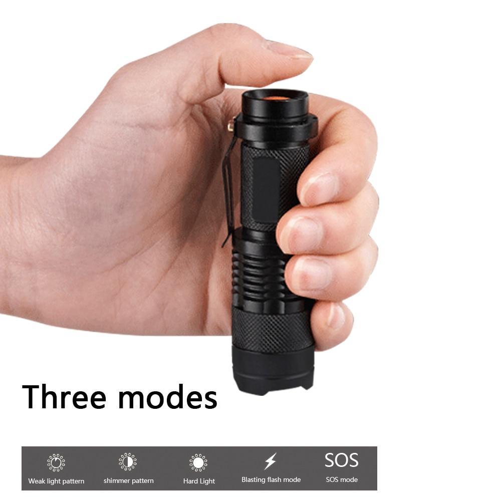 Powerful mini LED flashlight cree xml t6 led torch lanterna zoom 5 mode 3000 lumens waterproof light linternas