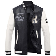 2018 Высокое качество Мужская кожаная куртка мужская куртка для отдыха куртка мотоциклетная кожаная куртка бейсбольная форма