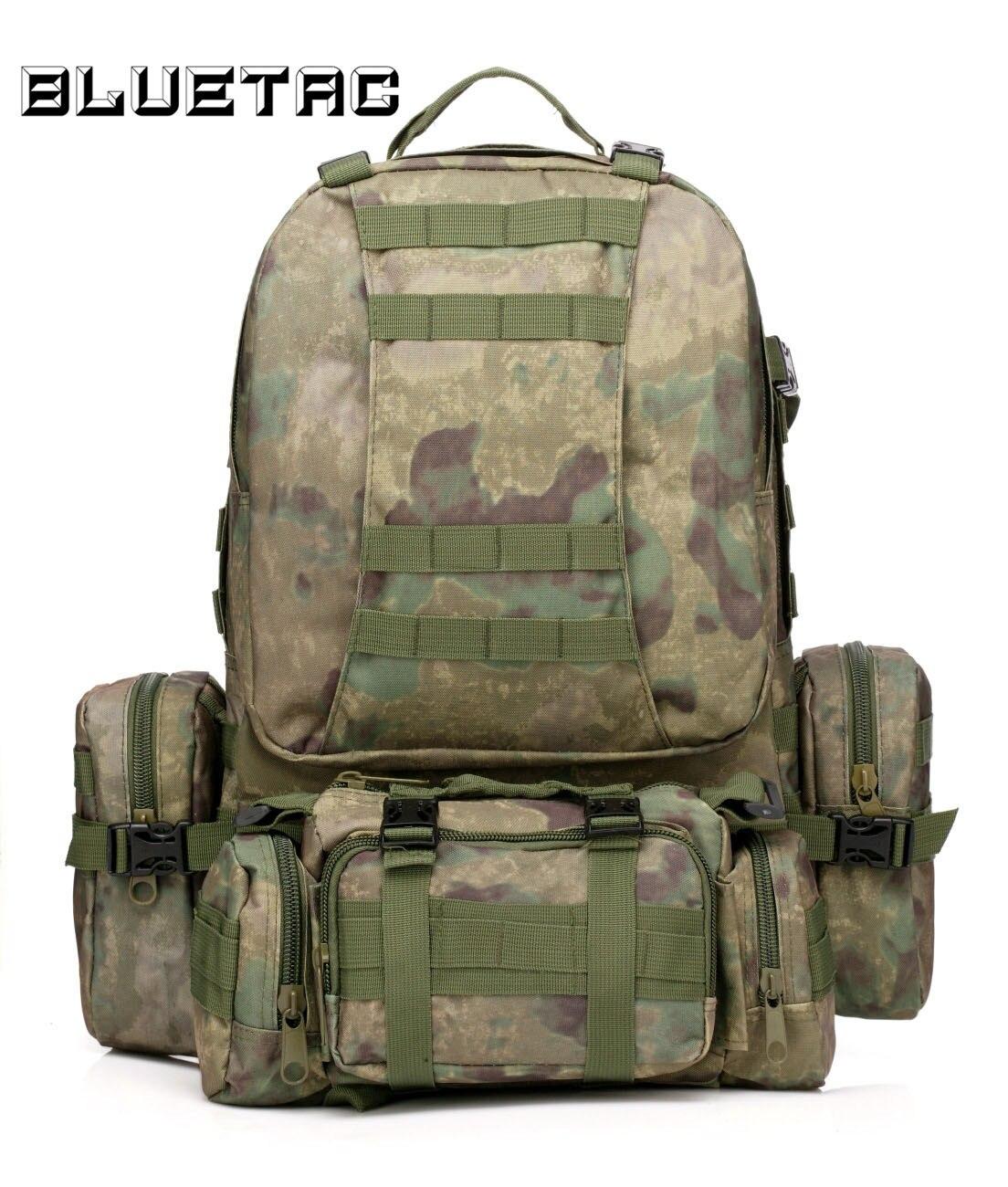 Sac à dos tactique militaire 60L avec 3 sacs à dos MOLLE sac à dos d'assaut de 3 jours sac à bandoulière pour la chasse Trekking