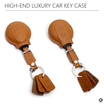 F55 F56 Leather Car Key Case Key holder Brown New OEM for BMW Mini Cooper ONE/FUN