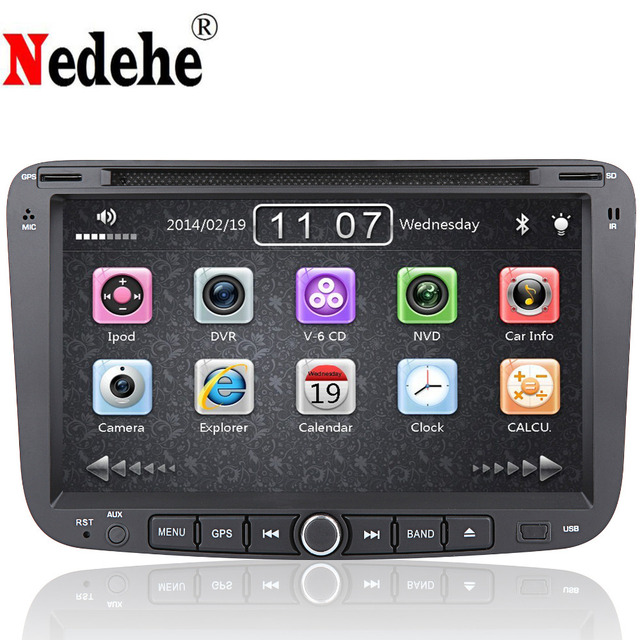 """Nedehe 7"""" 2din Car dvd Radio For Emgrand EC7 2012 2013 with GPS Navigation Bluetooth Audio Video 3G USB Port+rearview camera+mic"""
