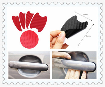 Car shape 3D carbon fiber door handle wrist anti-scratch sticker for Fiat Croma Linea Ulysse Oltre 600 1200 520 20-30 16-20 image