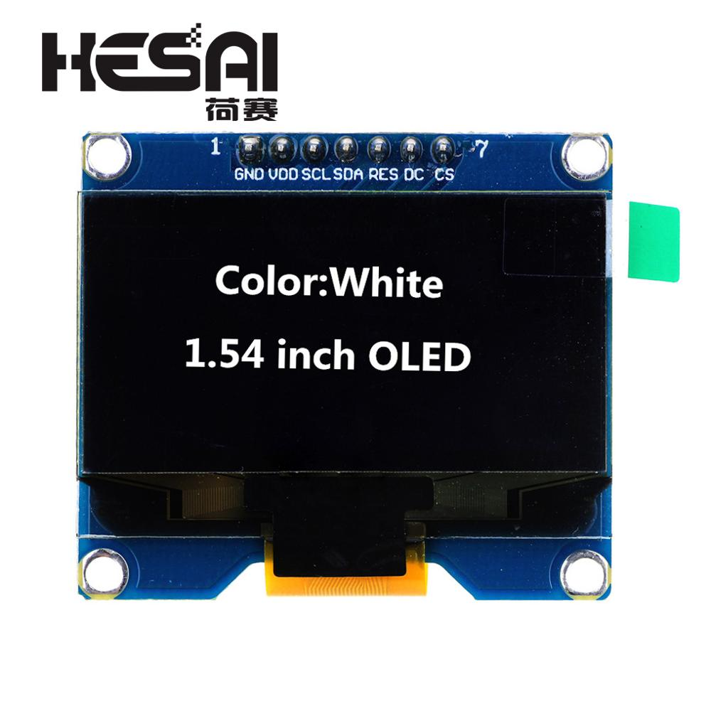 1.54 Inch White OLED Display Module 128x64 SPI Interface OLED Screen Board 3.3-5V UART For Arduino Diy Kit