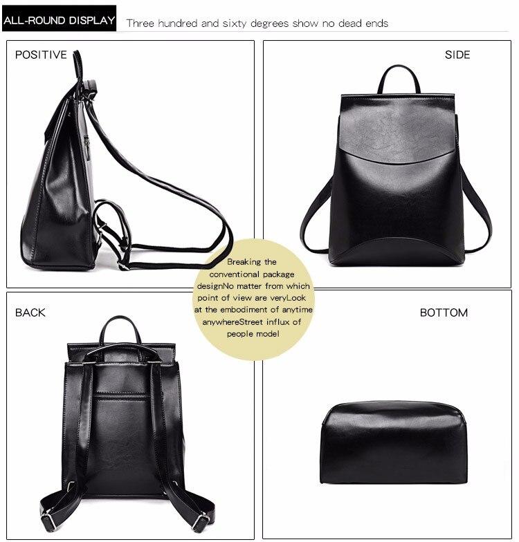 HTB1hKGBanlYBeNjSszcq6zwhFXas 2018 HOT Fashion Women Backpack High Quality PU Leather Backpacks for Teenage Girls Female School Shoulder Bag Bagpack mochila