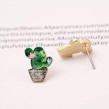 Jisensp New Arrival Costume Jewellery Stud Accessories Korean Cactus Earrings for Women boucle d'oreille femme 2018 OED107