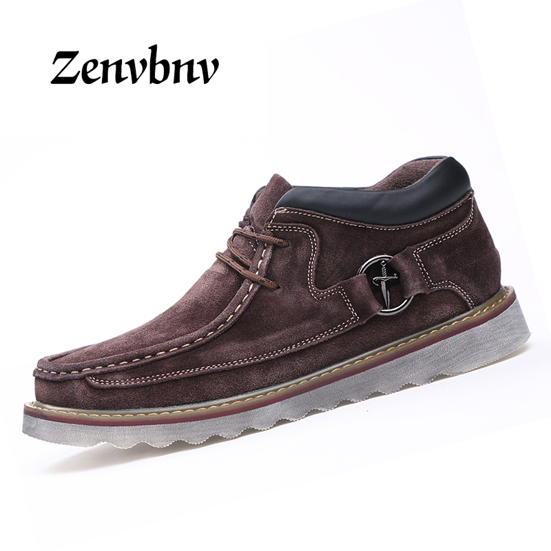 ZENVBNV 2018 New British Style Men Moccasins Fashion Men Cowhide Leather Casual Shoes Spring Breathable Flat Shoes For Men Shoes 2017 new spring british retro men shoes breathable sneaker fashion boots men casual shoes handmade fashion comfortable breathabl