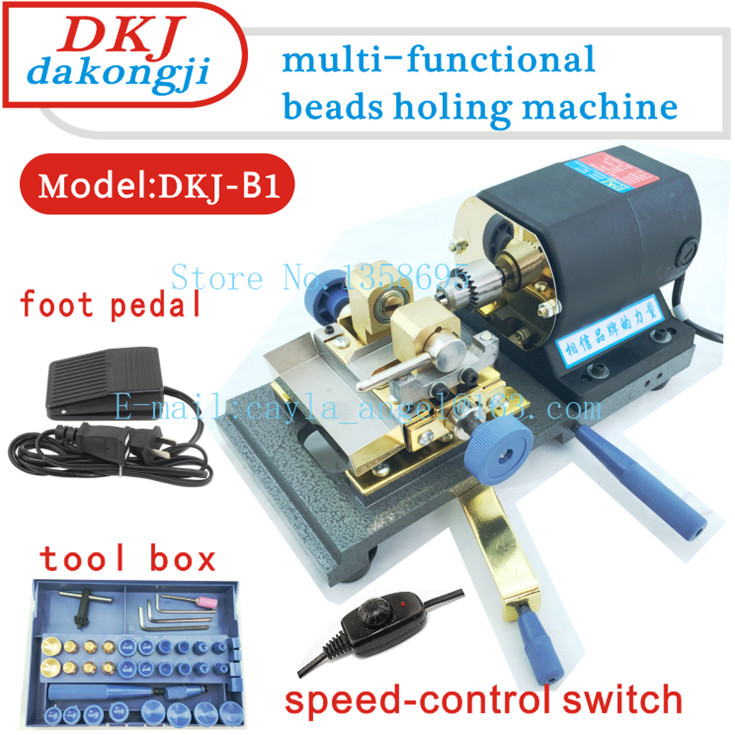 Wholesale! 300W/220V Black Beads Holing Machine with BOX TOOL and Foot PedalWholesale! 300W/220V Black Beads Holing Machine with BOX TOOL and Foot Pedal