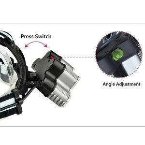 Image 5 - סופר בהיר פנס 9 LED פנס CREE XML T6 usb נטענת ראש מנורת 18650 סוללה headtorch גבוהה כוח led ראש לפיד
