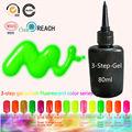 2017 Hot Fluorescent Colors Gel Nail Polish Long-Lasting Soak-off UV Nail Gel Polish 80ml/pcs 162 Colors Optional Free Shipping