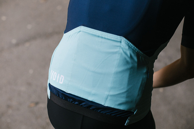Bottom part of Green with blue cycling jersey from cycling kit