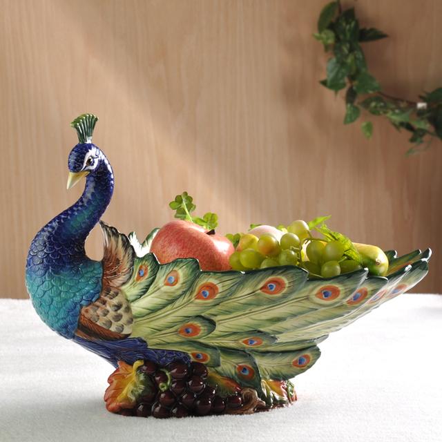 Plato de fruta de cerámica de protección del medio ambiente de jardín Europea large living room decor decoración Del Equipamiento Casero creativo fruià