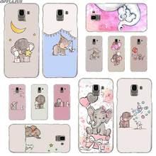 BINFUL Transparent hard case for Samsung J3 J4 J5 J6 J7 J8 2015 2016 2017 EU 2018 Prime Max Nursery Art Elephant