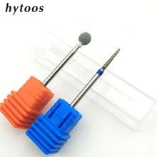 HYTOOS 2Pcs Diamond Nail Drill Bit 3/32″ Korund Rotary Burr Bits for Manicure Pedicure Nail Drill Accessories Nail Tools S9